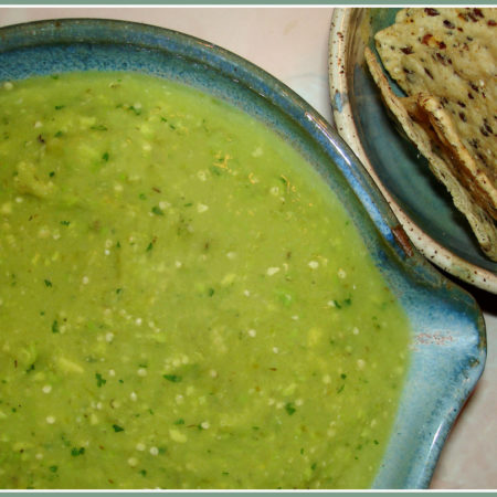 Glamorosi Cooks Salsa Verde with Avocado by Reese Amorosi