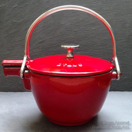 Staub La Theiere Teapot in Cherry